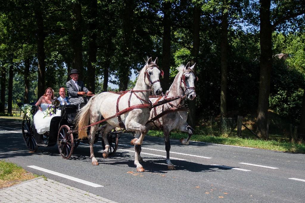 Zwarte trouwkoets huren schimmels Detzkyhoeve Soest Amersfoort Hilversum