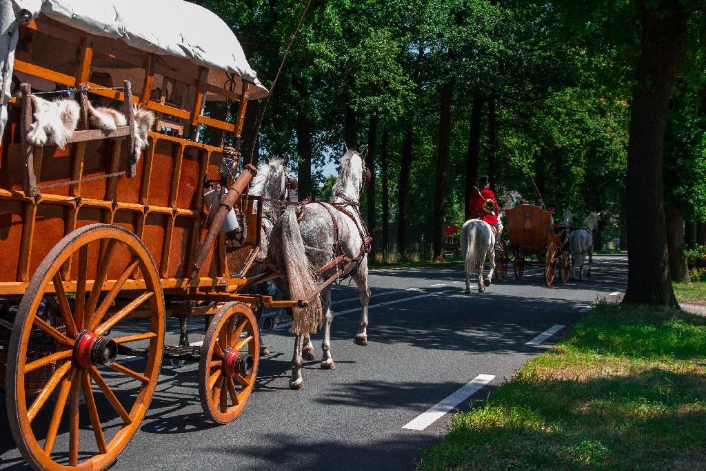 Cowboywagen trouwwagen jachruiter Detzkyhoeve Soest huren
